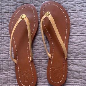 Tory Burch flip flops, size 7.5
